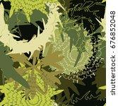 coloring mechanic flower... | Shutterstock .eps vector #676852048