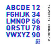 stereo alphabet. stereoscopic...   Shutterstock .eps vector #676852462