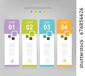 infographic template of four... | Shutterstock .eps vector #676856626