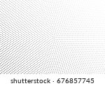 abstract halftone dotted... | Shutterstock .eps vector #676857745