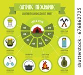 camping infographic banner... | Shutterstock .eps vector #676862725