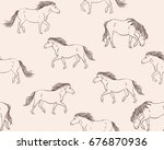 seamless vector pattern with... | Shutterstock .eps vector #676870936