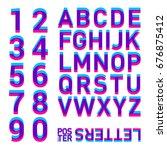 stereo alphabet. stereoscopic... | Shutterstock .eps vector #676875412