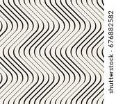 seamless wavy pattern.... | Shutterstock .eps vector #676882582