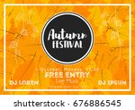 fall festival template. bright... | Shutterstock .eps vector #676886545
