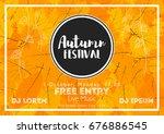 fall festival template. bright... | Shutterstock .eps vector #676886545