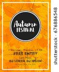 fall festival template. bright... | Shutterstock .eps vector #676886548