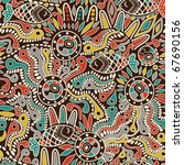 ethnic seamless pattern | Shutterstock .eps vector #67690156