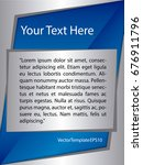 template silver  blue and white ...   Shutterstock .eps vector #676911796