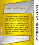 template silver  yellow and...   Shutterstock .eps vector #676914706