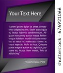 template purple  black and...   Shutterstock .eps vector #676921066
