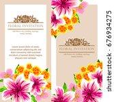 vintage delicate invitation... | Shutterstock .eps vector #676934275