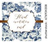 vintage delicate invitation... | Shutterstock . vector #676934308