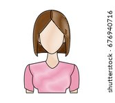 portrait woman young character...   Shutterstock .eps vector #676940716