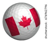 golf ball with canada flag on... | Shutterstock . vector #676962796