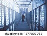 architect explore and design to ... | Shutterstock . vector #677003086