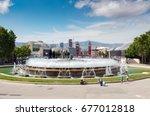 barcelona  spain   may 2017 ... | Shutterstock . vector #677012818