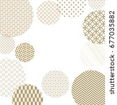japanese pattern background... | Shutterstock .eps vector #677035882