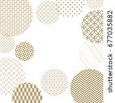 japanese pattern background... | Shutterstock .eps vector #677035882