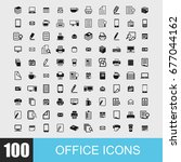 simple set of office related... | Shutterstock .eps vector #677044162