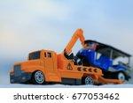 car hauler. | Shutterstock . vector #677053462