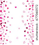 hearts vector pattern ... | Shutterstock .eps vector #677060572