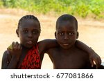 bubaque  guinea bissau   may 5  ... | Shutterstock . vector #677081866