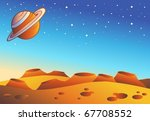 cartoon red planet landscape  ...