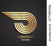 3d golden metal beautiful... | Shutterstock .eps vector #677089906