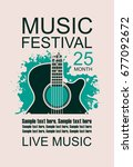 vector banner with acoustic... | Shutterstock .eps vector #677092672