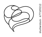 stylized heart  consisting of...
