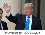 paris  france   july 13  2017   ...   Shutterstock . vector #677126275