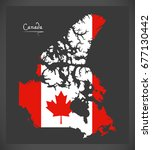canada map with canadian... | Shutterstock .eps vector #677130442