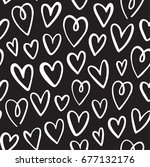 seamless heart pattern in... | Shutterstock .eps vector #677132176