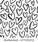 heart vector pattern. doodle...   Shutterstock .eps vector #677132212