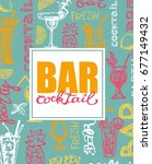 cocktail set. elements for the... | Shutterstock .eps vector #677149432