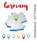 germany outline map  vector... | Shutterstock .eps vector #677151622