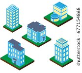 collection of buildings and... | Shutterstock .eps vector #677154868