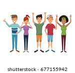 white background with colorful... | Shutterstock .eps vector #677155942
