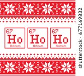 geek christmas seamless pattern ... | Shutterstock .eps vector #677169832