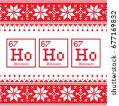 geek christmas seamless pattern ...   Shutterstock .eps vector #677169832