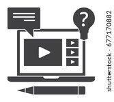 education online  webinar or... | Shutterstock .eps vector #677170882