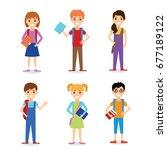 children cartoon education ... | Shutterstock .eps vector #677189122