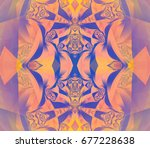 digital abstract multicolored... | Shutterstock . vector #677228638