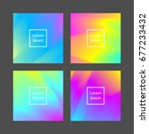set of abstract cards with... | Shutterstock .eps vector #677233432