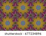 raster nature seamless pattern... | Shutterstock . vector #677234896