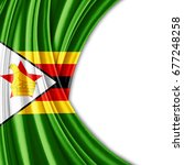 zimbabwe flag of silk with... | Shutterstock . vector #677248258