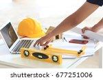 engineering design  supervision ... | Shutterstock . vector #677251006