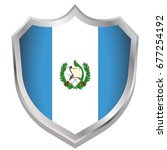 a shield illustration with the... | Shutterstock .eps vector #677254192