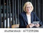 smiling senior businesswoman